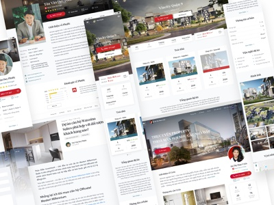 Real Estate Web & Mobile landing page profile mobile web project apartment house realestate