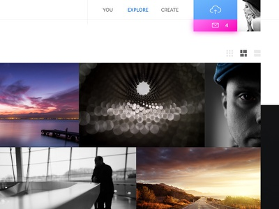 Flickr revamped view web notification upload image picture album gallery flickr