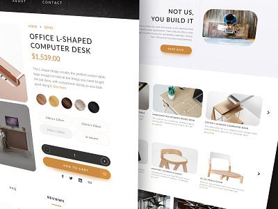 Desks & Chairs E-commerce order shopping detail table chair desk button shop ecommerce interface ui web