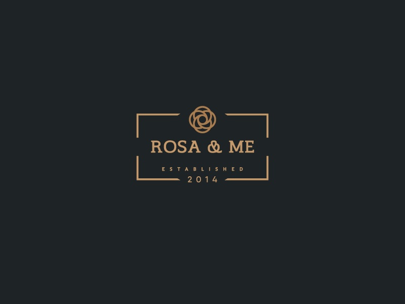 Rosa & Me Logo clothing attire brand identity branding logos logo-design logo