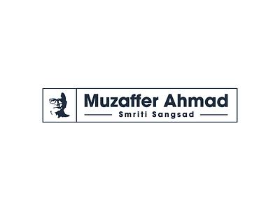 Muzaffer Ahmad Memorial  one color logo simple logo economist muzaffer ahmmed logo brand identity icon illustration logo design logo