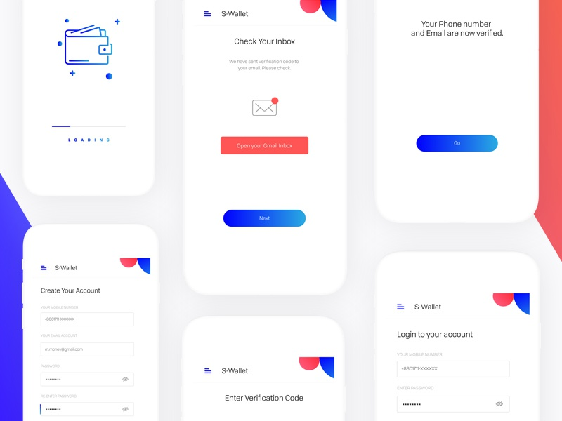 e-Wallet App Design money app design money transfer app finance app mobile app mobile ui ux design ui design wallet design wallet app