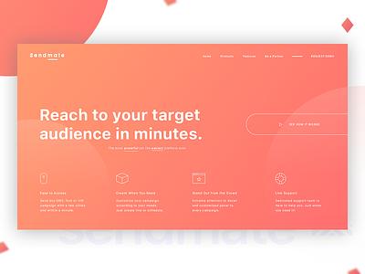 Sendmate Color Experiment gradient sms marketing web design website design ux ui ui design webpage design