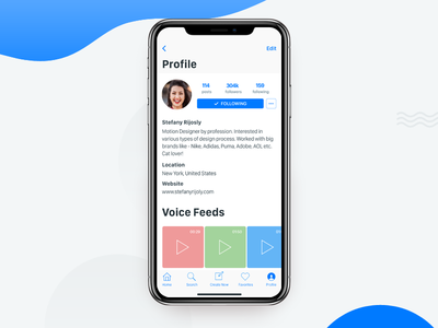 New iOS app for Voice Feed