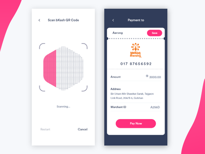 Mobile Wallet Payment Option wallet design ios ui design mobile ui scan finance payment options verification mobile wallet qr code mobile payment financial payment