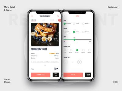 Restaurant Menu Exploration with Filter
