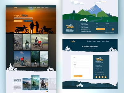 Travel website Design greenery fun adobexd ui webdesign website tour adventure travel