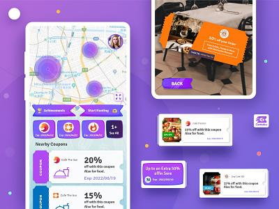 Gettoku App Design (AR)-2 mobile design mobile app design coupons mobileapp mobile ui augmented reality game ux ui design card mobileappdesign mobile uiux ux ui minimal interface app