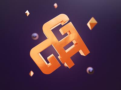 Logo visualized in 3D for GAG 3d logos 3d logo 3d rendering 3d render 3d modeling logo design branding logodesign brand identity