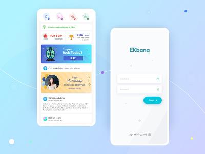 Office App for EKbana ui minimal design mobile apps uiux interface app mobile mobile ui ui design mobile app design concept ux ux ui design office automation dashboard home user interface design