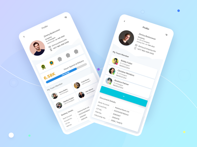 User Profile for Office App team member blue user profile icon model user profile minimal badge design app ux ui
