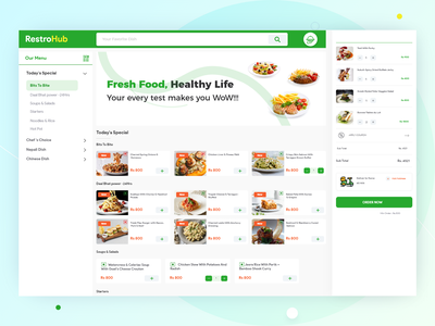 Online Menu for Restaurants design branding app app design art online business menu clean user interface flat food landing page responsive simple uiux uxui ui ux web