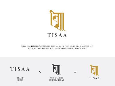Logo Design- TISSA symbol minimal simple jewelry mark logo design logomark wordmark newari nepali type logotype illustration concept design typography vector branding logo ui