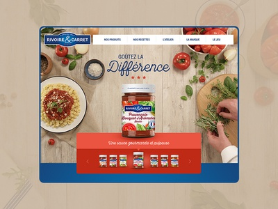 Home page de site responsive website responsive design responsive univers de marque conception graphique food website webdesigner web ui ux webdesign design