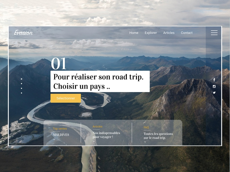 DailyUI 003 responsive website responsive design uidesign roadtrip travel website ui webdesign branding web design dailyui003 dailyui