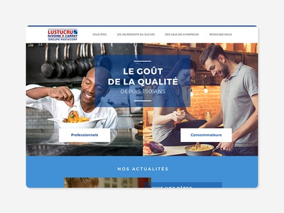 Webdesign du site lustucru.com