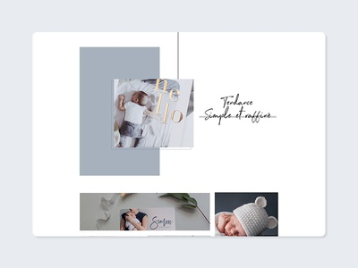 Page de tendance website webdesign web baby naissance logo ui branding design