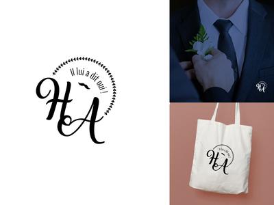 Logo initiale pour un mariage creation logotype logo wedding