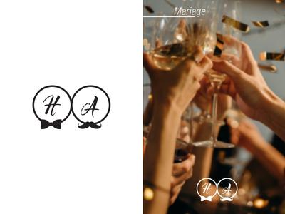 Logo initiale pour un mariage creativite creation creative wedding amour logotype creation de logo logodesign logo