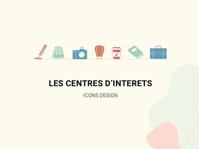Réalisation d'icons designer centres dinteret cv branding vector webdesign designs icons set icon design icons pack création design icons