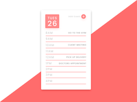 Daily UI #071 - Schedule