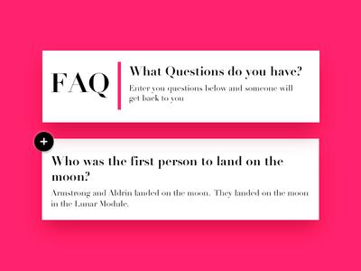 Daily UI #092 - F.A.Q. question ui 092 create new 092 ui 100 daily ui ui faq