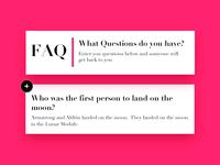 Daily UI #092 - F.A.Q.