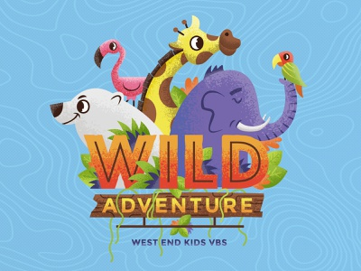 WILD ADVENTURE VBS kids ministry kidmin vacation bible school giraffe flamingo polar bear elepant adventure wild zoo vbs
