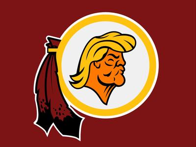 Washington Orangeskins donald trump football redskins washington washington redskins nfl orange trump