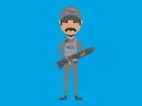 Hamada ACU Soldier - Jurassic World Series