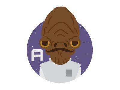 A is for Admiral Ackbar ackbar skywalker han solo droids the force awakens star wars admiral ackbar
