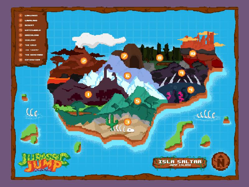 Jump Island Map game design game dev ios games dinosaurs jurassic jump jurassic world jurassic park