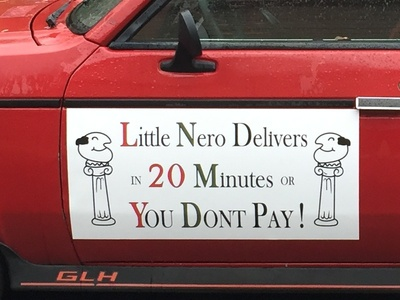 Little Neros Pizza Car!