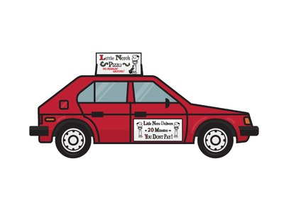 Nate Farro / Projects / Little Neros Pizza Car | Dribbble