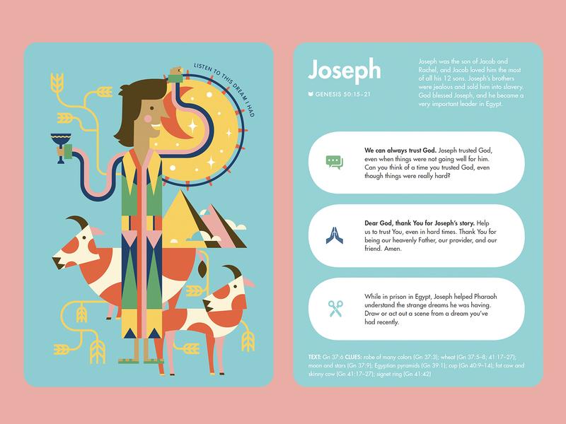 Joseph - Kids Read Truth Cards josephs coat joseph bible characters bible kid lit art kids read truth