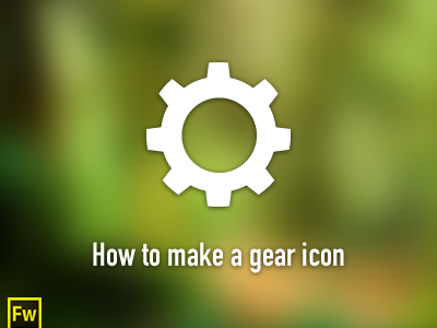 Gear icon - Fireworks tutorial tutorial fireworks icon gear fw adobe fireworks