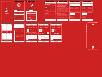 Wirefamin' wireframe inme adobe fireworks white fireworks app red black ios trade chase