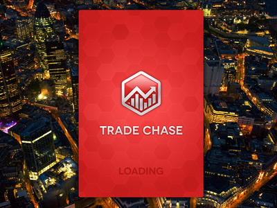 Trade Chase App: Begins tradechase app ios iphone fireworks wireframe render gaming gambling stocks shares graph logo trade chase adobe fireworks