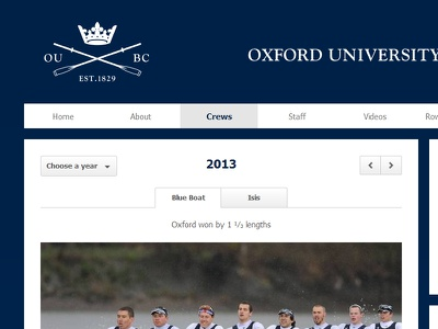 OUBC website website web design rowing oxford oubc oxford university oxford university boat club