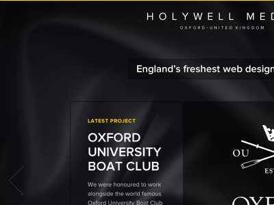 Holywell Media website design website design black yellow oubc oxford uk web design proxima nova fireworks adobe fireworks