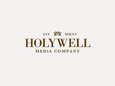 Holywell Media Branding logo elegant holywell media trustworthy brand branding regal bodoni fireworks adobe fireworks