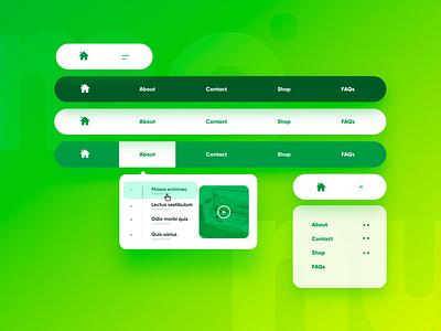 Website Menu Bar ui menu cool menu baar modern menu design menu bar