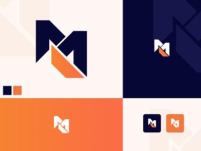 M - Logo Design m modern design logo mk logo mk web design logo m logo branding logo