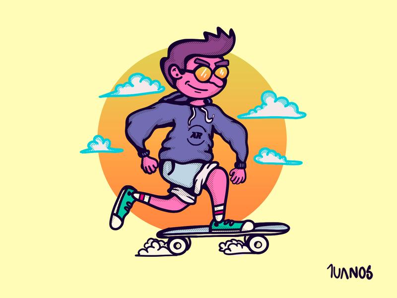 Escape skateboard skate digitalart digital painting digital illustration illustration