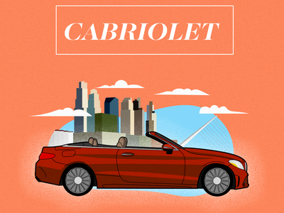 Cabriolet BSAS animation illustration icon cars vector ui design