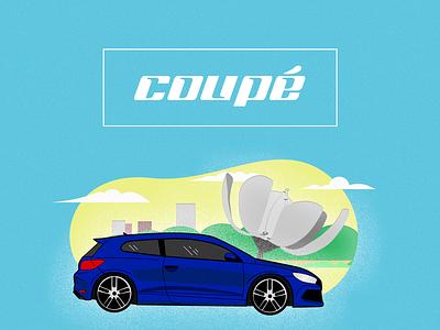 Coupé Car Bsas vectores ilustración car cars branding web design ui vector illustration