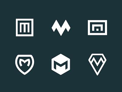M mark exploration iot identity brand logotype logo sign mark monogram letter initial m