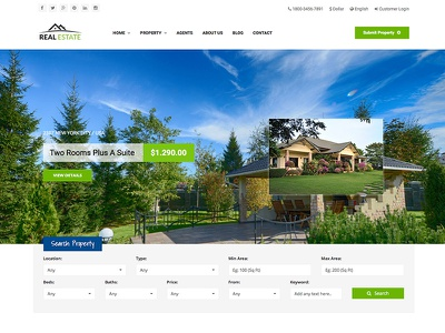 WS Estate Responsive Real Estate Site Template responsive template site business estate real estate blue green bootstrap css html5