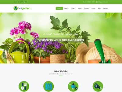 WS Garden Responsive Garden Site Template responsive template site business gardening garden green bootstrap css html5