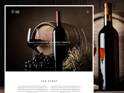 Wine Shop Responsive Bootstrap Wine Template responsive template site wine shop wine red purple bootstrap css html5